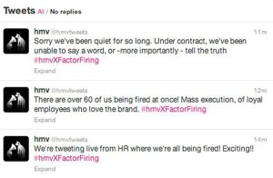 6-british-entertainment-retailer-hmv-lost-complete-control-of-its-social-media-team-when-rogue-members-used-the-account-to-childishly-live-tweet-a-massive-firing-at-the-company